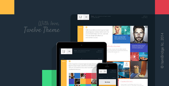 ThemeForest Twelve Original & Creative Responsive Template 9219024