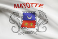 Flag blowing in the wind series - Mayotte - PhotoDune Item for Sale