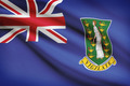Flag blowing in the wind series - British Virgin Islands - PhotoDune Item for Sale
