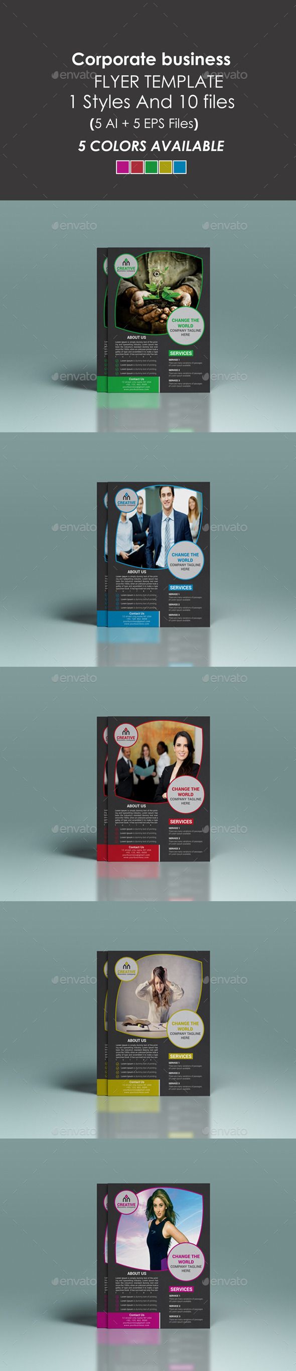 GraphicRiver Corporate Flyer Template 9219484