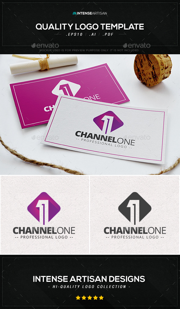 GraphicRiver Channel One V.3 Logo Template 9219674