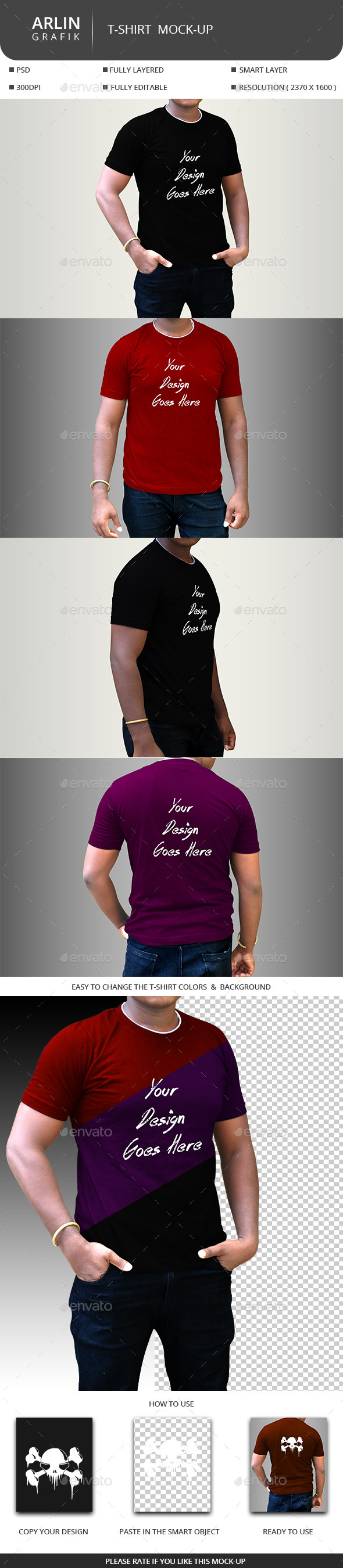 GraphicRiver T-Shirt Mock-up 9177187