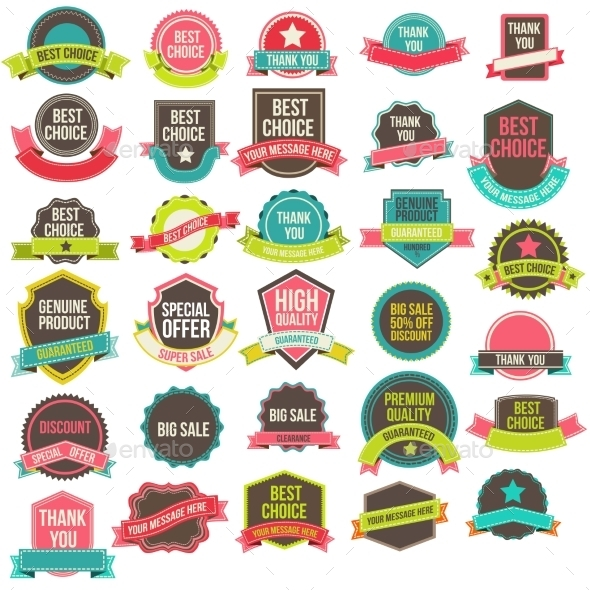 GraphicRiver Collection Labels and Ribbons 9219969