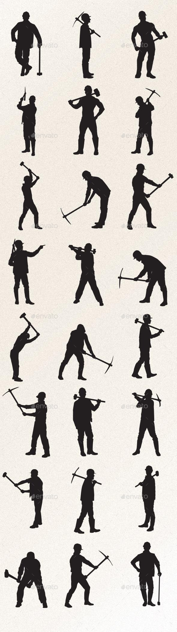 GraphicRiver Worker with Sledgehammer and Pickaxe 9220110