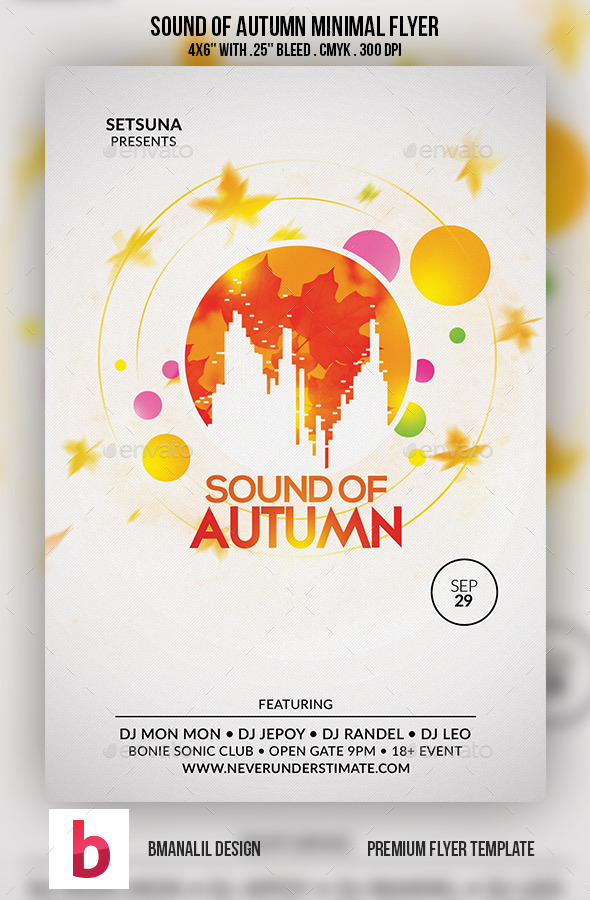 GraphicRiver Sound of Autumn Minimal Flyer 9192329