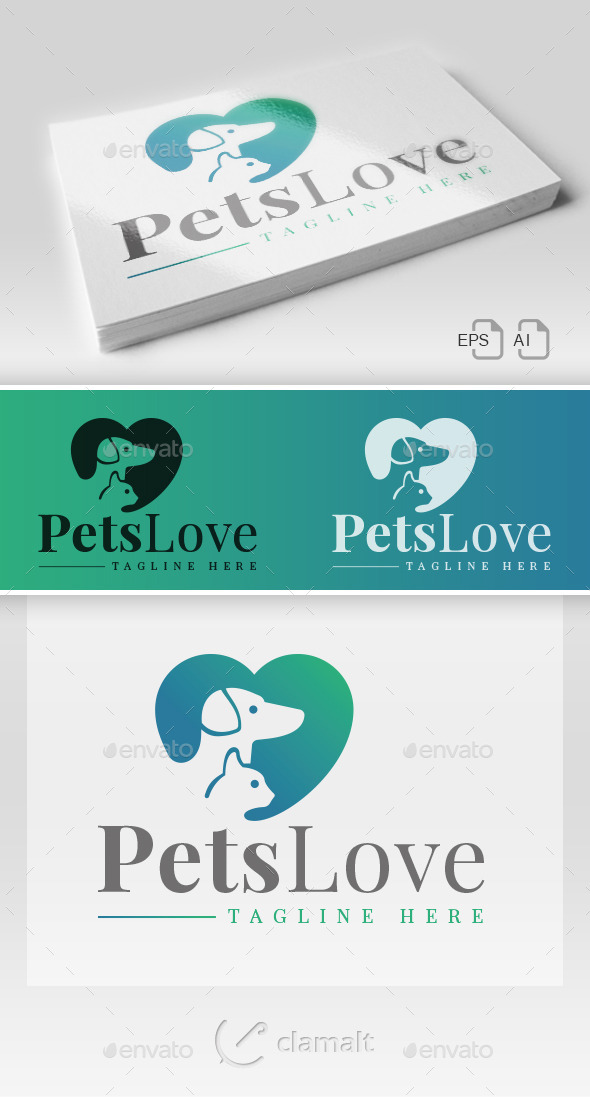 GraphicRiver Pets Love Logo 9220260