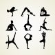 Yoga Pose Silhouettes - GraphicRiver Item for Sale