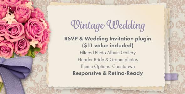 Vintage Wedding WordPress Theme