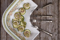 Zucchini With Fillet Of Red Mullet And Herbs Pesto - PhotoDune Item for Sale