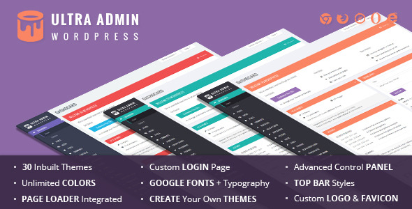 CodeCanyon Ultra WordPress Admin Theme 9220673
