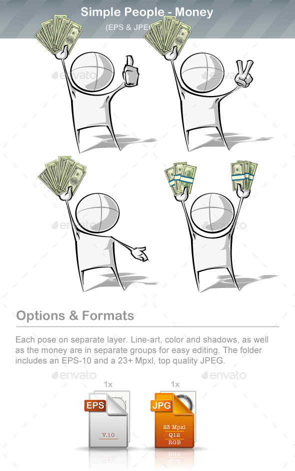 GraphicRiver Simple People Money 9220674