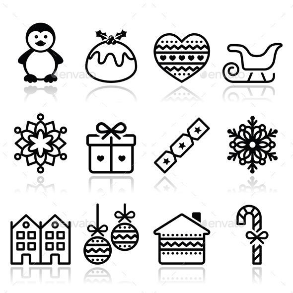 GraphicRiver Christmas Winter Icons 9220681