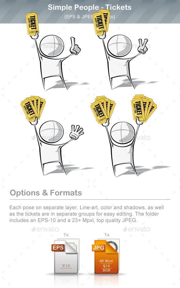 GraphicRiver Simple People Tickets 9220823