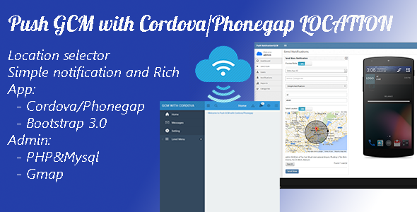 CodeCanyon Push GCM with Cordova Phonegap & Location 9211866