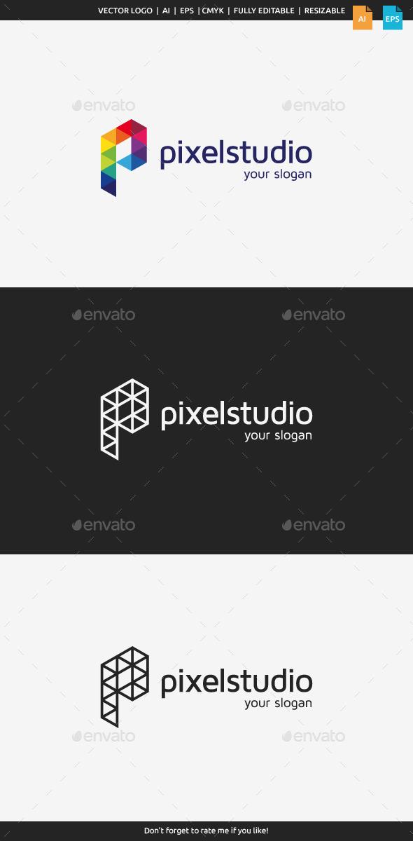 GraphicRiver Pixel Studio Logo 9220848