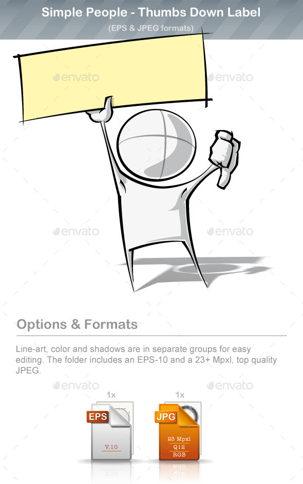 GraphicRiver Simple People Thumbs Down Label 9220876