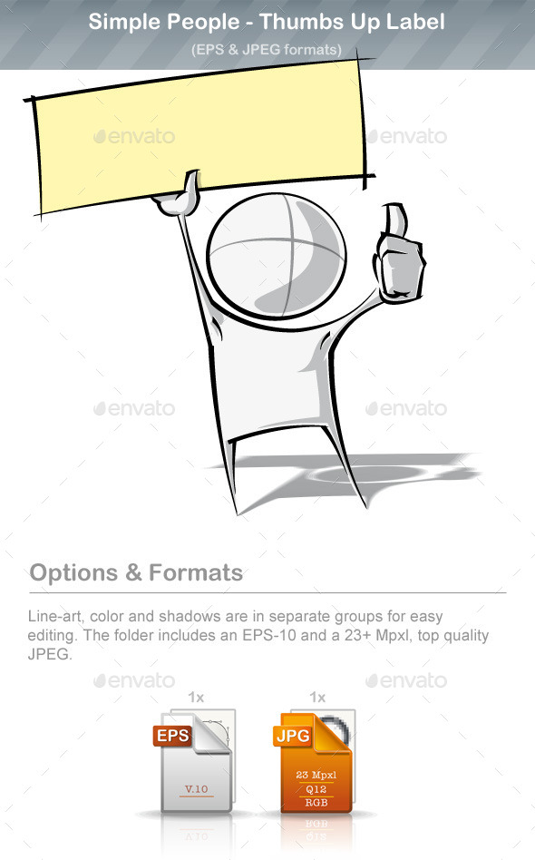 GraphicRiver Simple People Thumbs Up Label 9220938