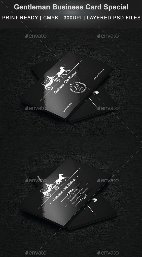 GraphicRiver Gentleman Business Card Special 9221069