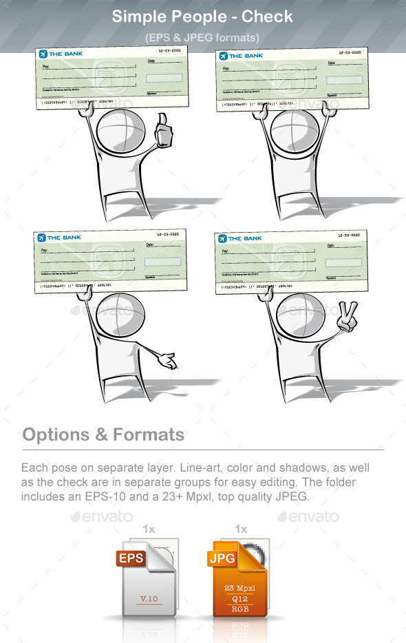GraphicRiver Simple People Check 9221080