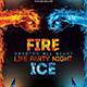 Fire & Ice Party Flyer
