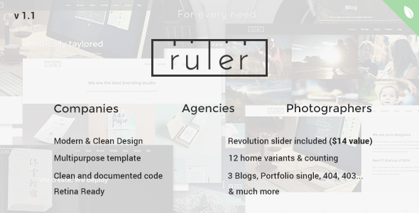 ThemeForest Ruler Multipurpose One Page 9089842