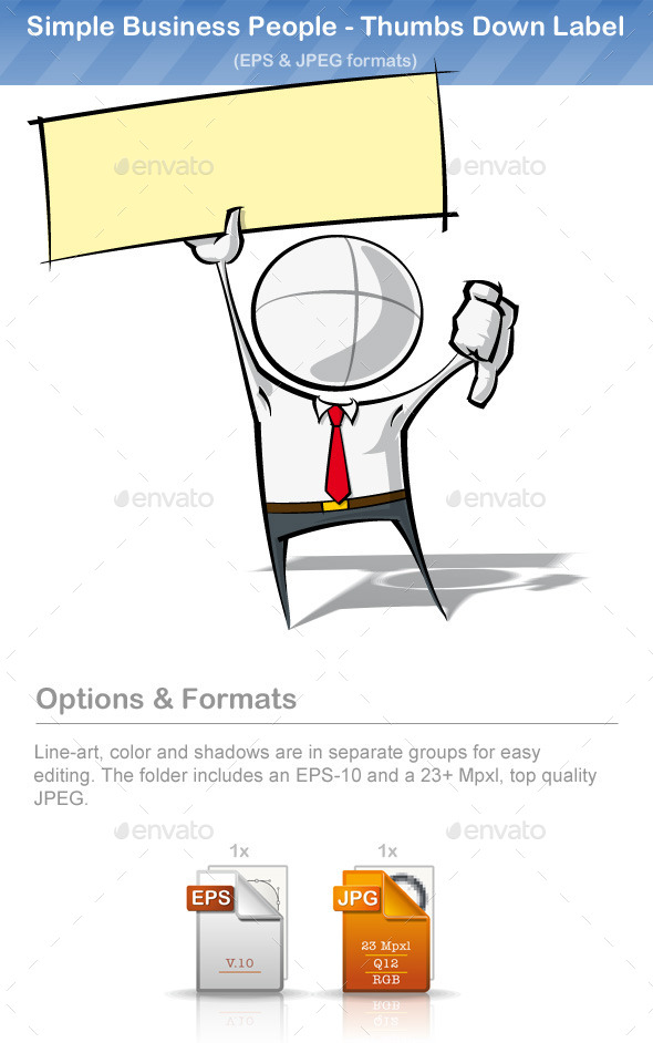 GraphicRiver Simple Business People Thumbs Down Label 9221192