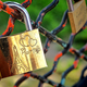 Paris Love Lock Sweethearts Padlock on Park Fence - PhotoDune Item for Sale