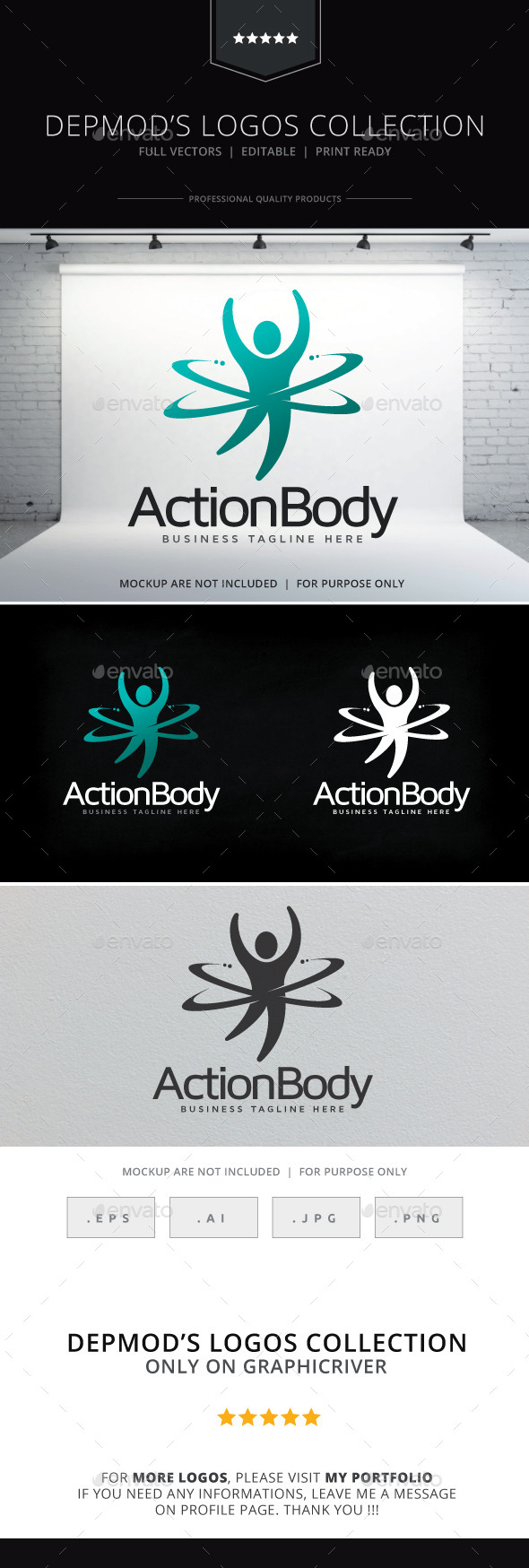 GraphicRiver Action Body Logo 9221229