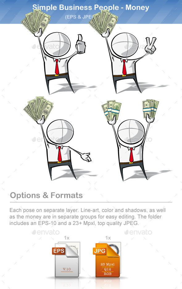 GraphicRiver Simple Business People Money 9221274
