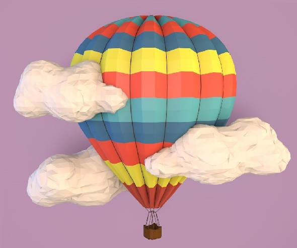 3DOcean Low poly balloon 9221276