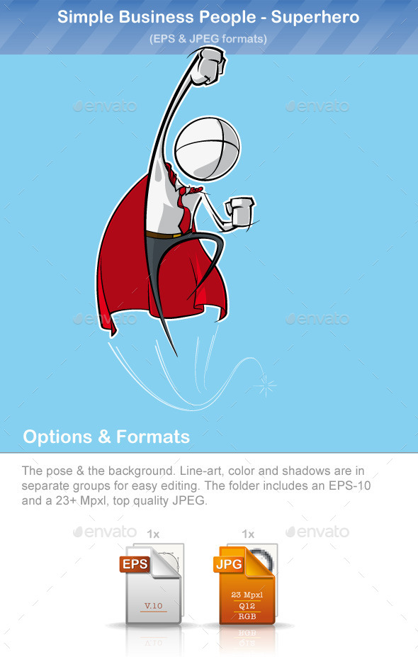 GraphicRiver Simple Business People Superhero 9221278