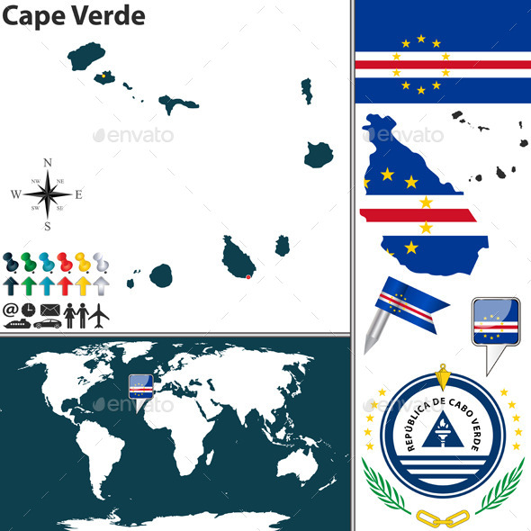 GraphicRiver Map of Cape Verde 9221319