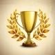 Golden Trophy Emblem - GraphicRiver Item for Sale