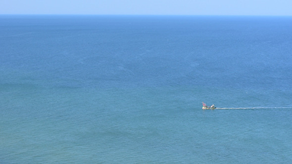 Fishing Boat and Blue Ocean 2