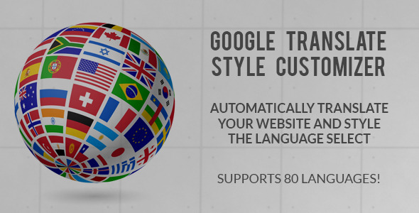 CodeCanyon Google Translate Style Customizer 9214183