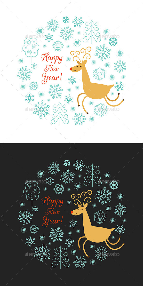 GraphicRiver Christmas Deer Illustration 9221662