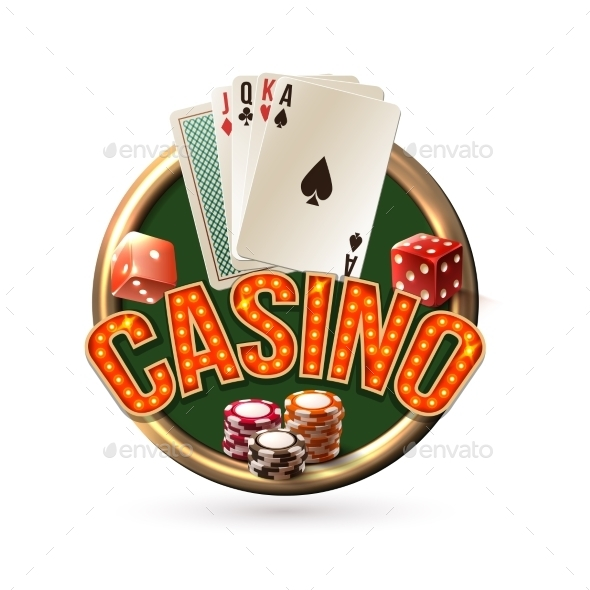 GraphicRiver Poker Casino Emblem 9221686