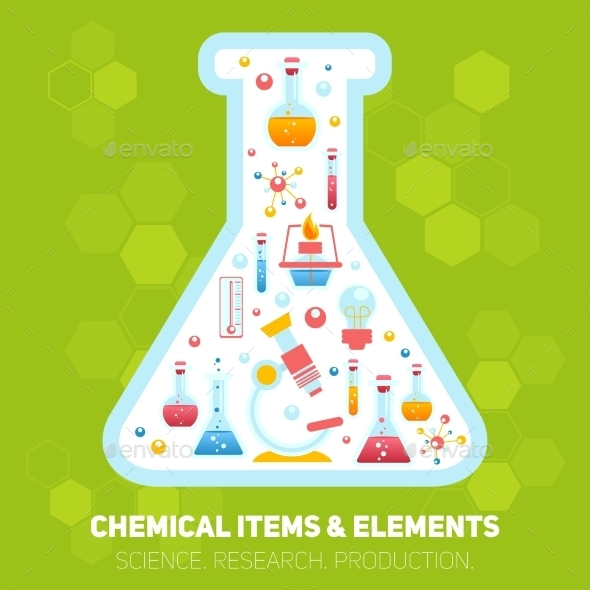 GraphicRiver Chemistry Infographics Composition 9221698