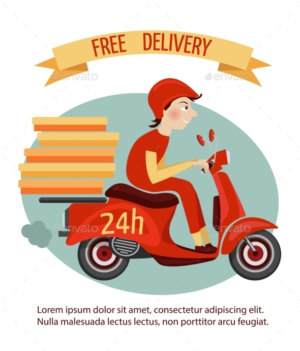 GraphicRiver Scooter Delivery Poster 9221726