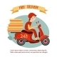 Scooter Delivery Poster - GraphicRiver Item for Sale