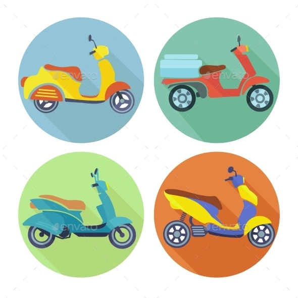 GraphicRiver Scooter Icons 9221727