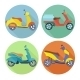 Scooter Icons - GraphicRiver Item for Sale