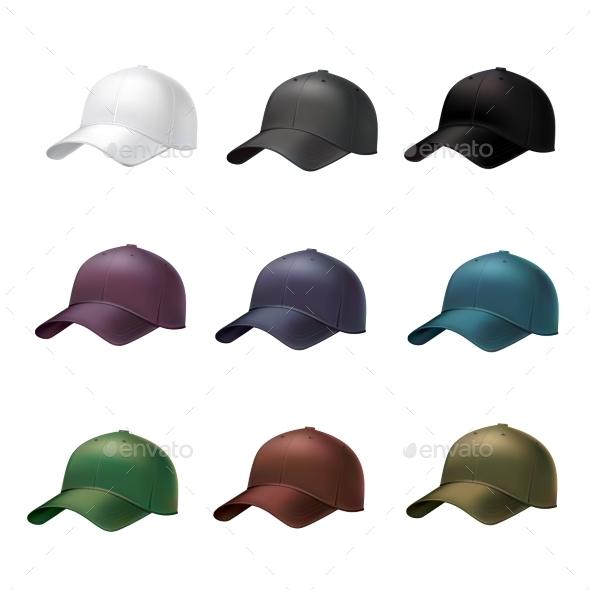 GraphicRiver Realistic Baseball Cap 9221736
