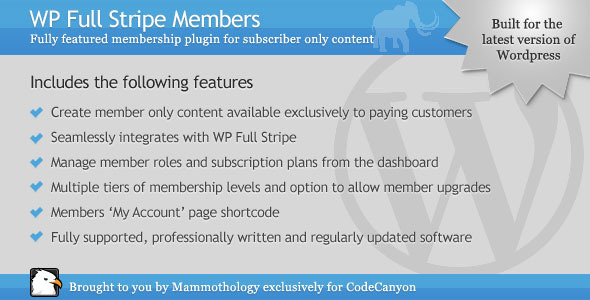 CodeCanyon WP Full Stripe Members Add-on for WP Full Stripe 9221747