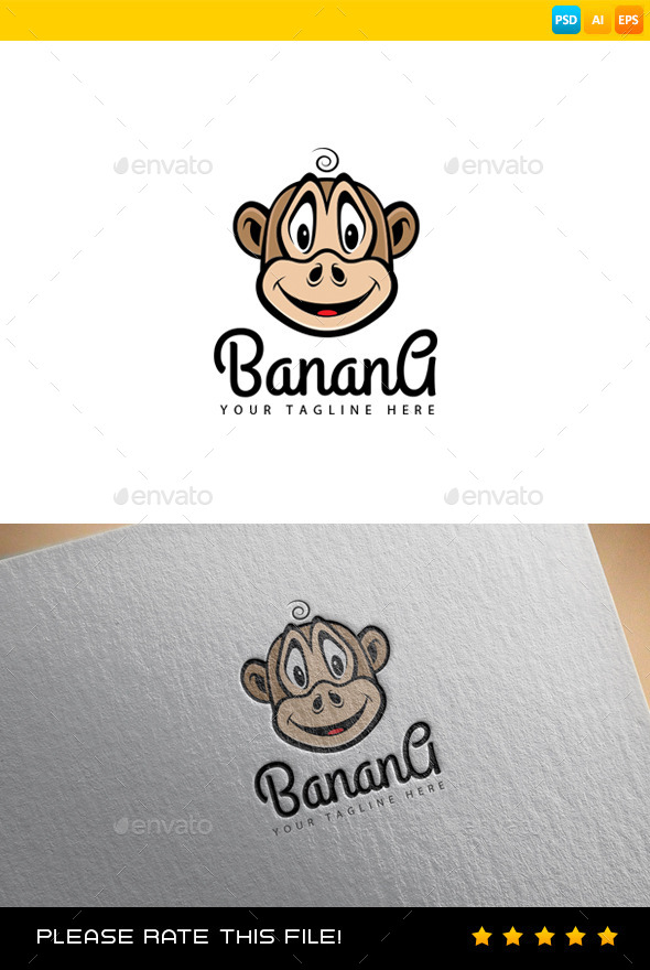 GraphicRiver Monkey Logo 9165263