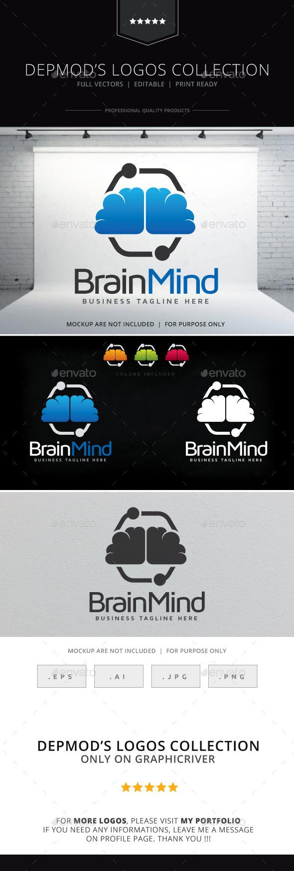 GraphicRiver Brain Mind Logo 9221848