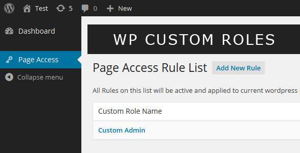 Wordpress Custom Roles is a wordpress plugin to prevent any wordpress user or a group of users or even wordpress roles to access the core wordpress pages or any