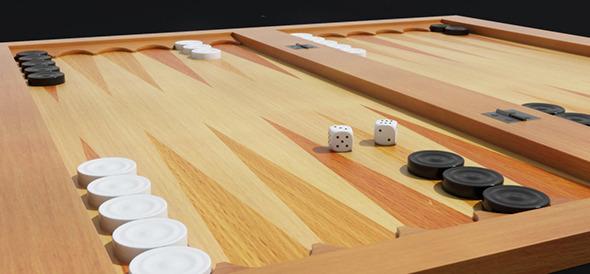 3DOcean Backgammon 3D Model 9222055