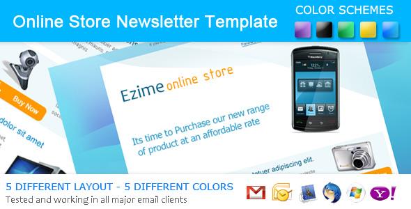 Ezime Online Store Newsletter