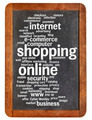shopping online word cloud - PhotoDune Item for Sale